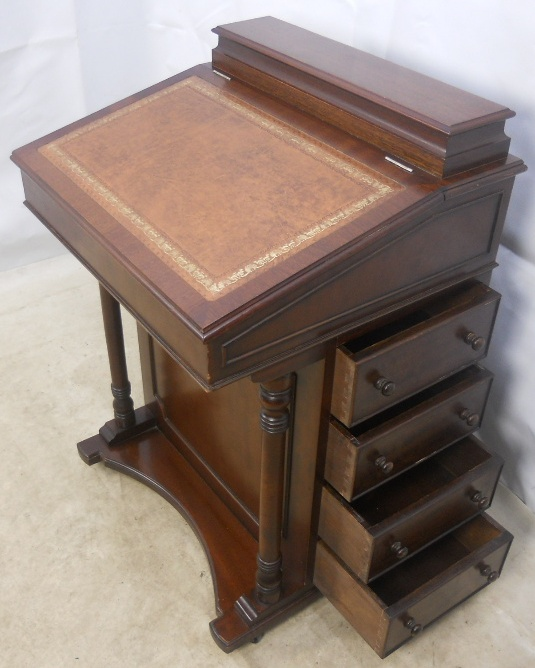 - Antique Style Mahogany Davenport Ladies Writing Desk - SOLD